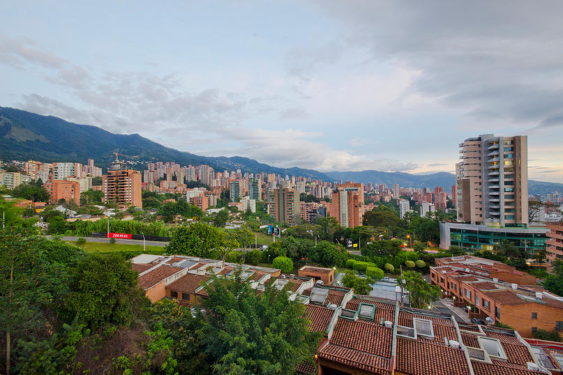 Alminar skyline view from apartment for rent in Medellin