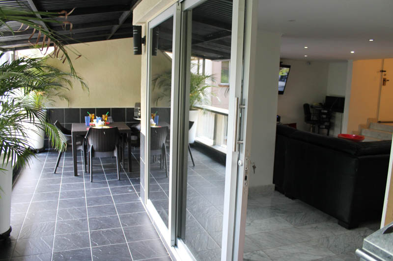 Outdoor Dining Medellin Apartment for Rent