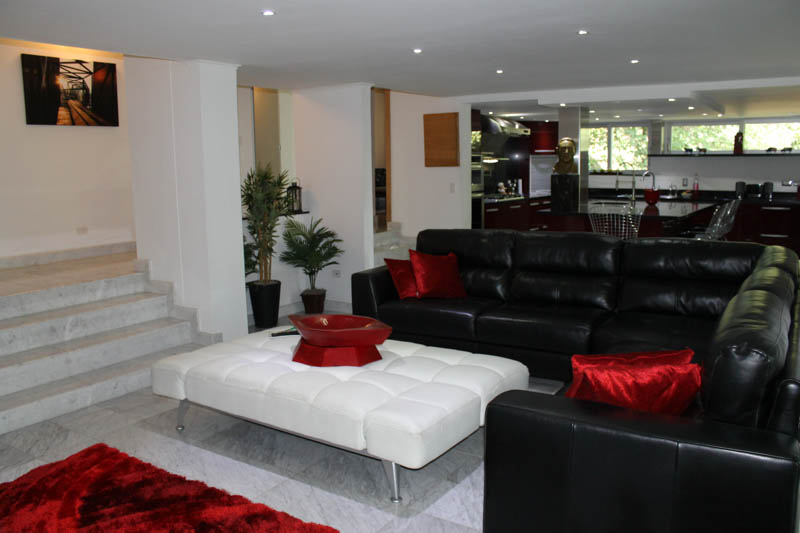 Luxury Living Room in Medellin Apartment for Rent