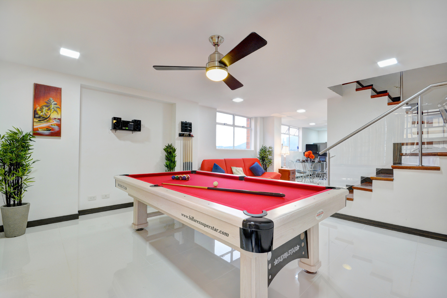 Pool Table To Kitchen
