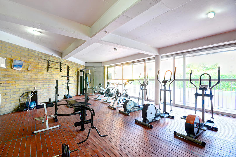 gym at Medellin apartment for rent