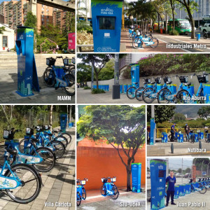 bike stations by apartments in medellin