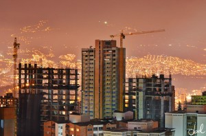 New apartment building being constructed in Medellin, Colombia.