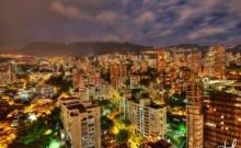 lleras at night in Medellin