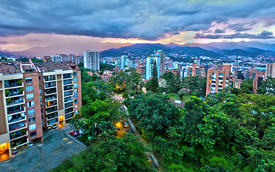 Apartment buildings in Medellin, Colombia
