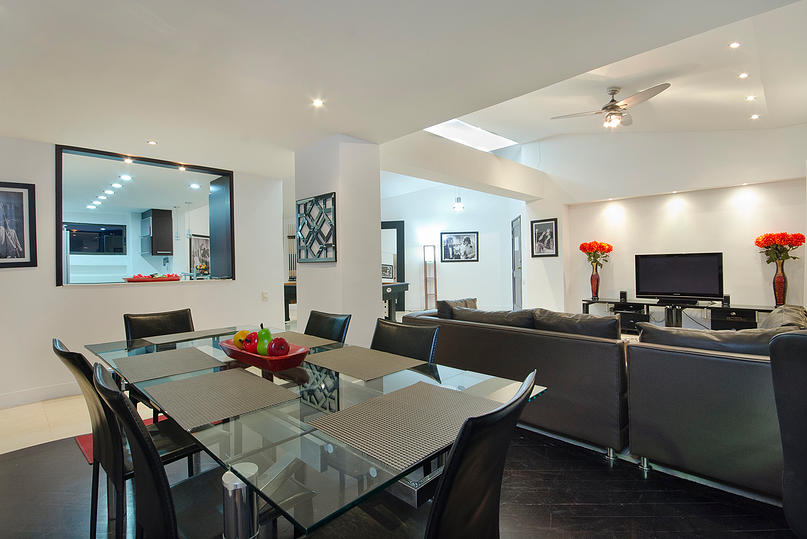 dining table in Medellin apartment for sale