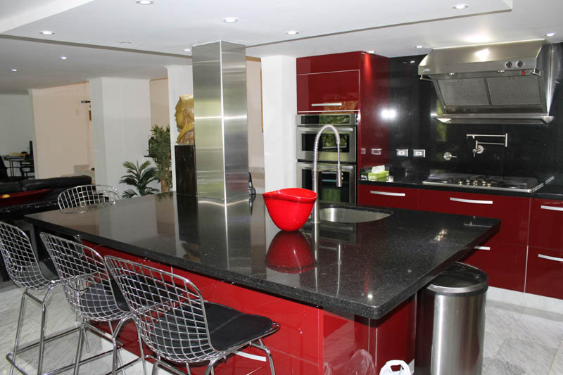 Luxury Kitchen in Medellin Apartment for Rent