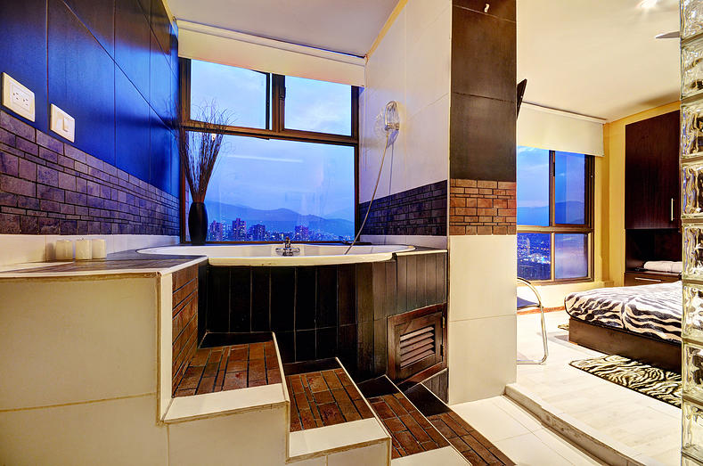 attic sunken contemporary bath tub