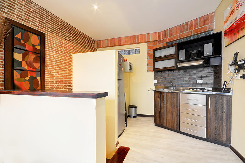 San Pedro attic kitchen in Medellin apartment for rent