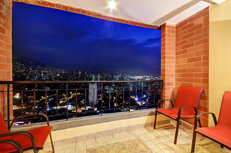 San Pedro balcony in Medellin apartment for rent