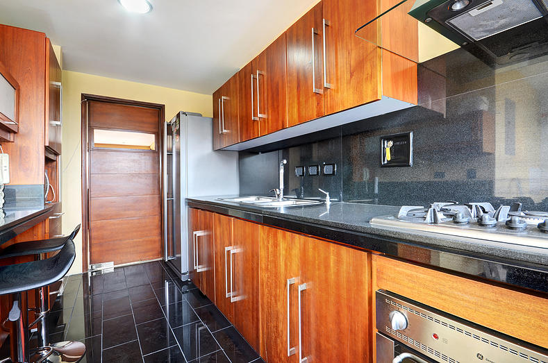 San Pedro kitchen in Medellin apartment for rent