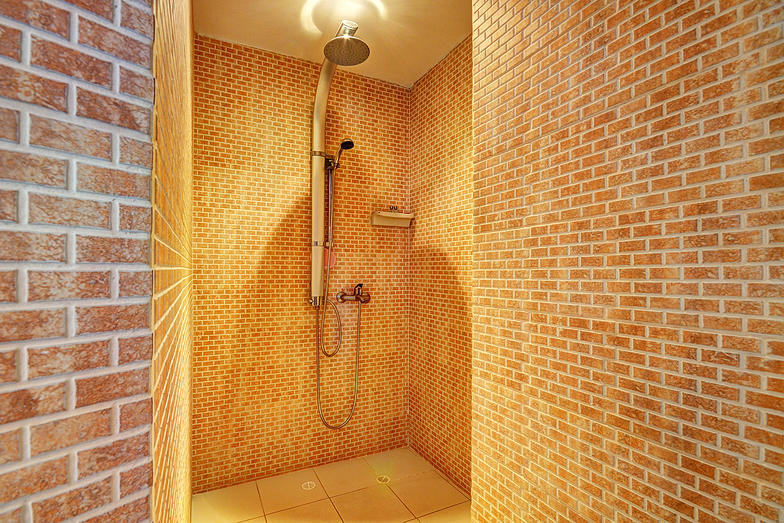 San Pedro shower in apartment for rent in Medellin