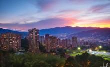 Sky view of Medellin
