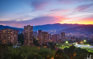 Sky view of Medellin
