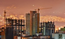 medellin construction panorama view