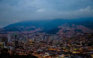 Medellin at Night - City