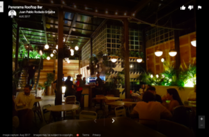 Low Light in Beautiful Outdoor Bar in Medellin, Colombia